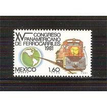 1981 Mèxico Congreso Panamericano De Ferrocarriles Sello Mnh