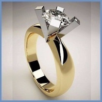 Anillo De Compromiso Diamante Natural .55ct Oro 18k -50% 264
