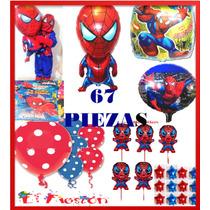 67pz Globo Spiderman,invitaciones,centro De Mesa,envìo Grati