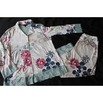 Cool Nigths Set Pijama Menta Floral Soft Talla S
