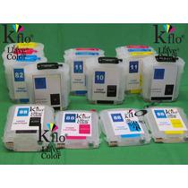 Cartucho Rellenable, Con Chip Compatible Con Hp 88,10,11,82