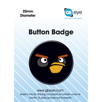Angry Birds Placa - Pájaro Negro 25mm Oficial Gaming