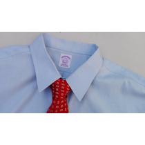 Camisa Traje Brooks Brothers Talla Extra 2xlt Cuello 19 Azul