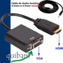Convertidor Hdmi A Vga Audio Video Conecta Pc Al Proyector