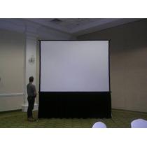 Pantalla De Proyector , Proyeccion Delantera- Trasera 3x3m.