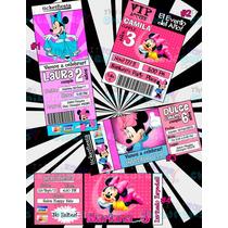 Invitaciones Minnie Mouse-invitaciones Mimi