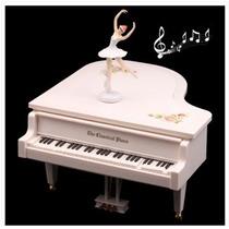 Caja De Música Con Bailarina En Piano Eléctrico