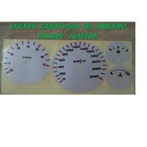 Sticker Vinil Reflejante Caratula Para Tablero Nissan Almera