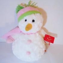 Muñeco De Nieve De Peluche Marca Aurora Navideño Navidad