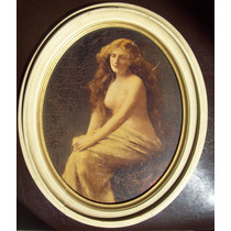 Oleo Antiguo Desnudo Femenino Siglo Xix Op4