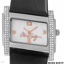 Reloj Miss Sixty / Piel Negra / Cristales / Envio Gratis Sp0