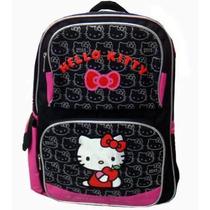 Mochila Grande, Hello Kitty, Sanrio Con Etiqueta+regalo