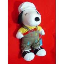 Snoopy Pintor De Brocha Gorda Vestido Como Albañil Original