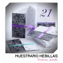 Muestrario Hebillas Decoracion Invitaciones Cajas Velas