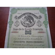 Bono De La Deuda Bancaria 1930