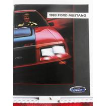 Catalogo De Ford Mustang 1983 Nuevo