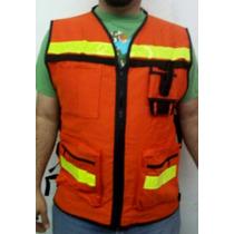 Chaleco Ingeniero Proteccion Paramedico Seguridad Vial Equip