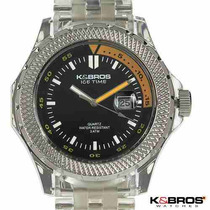 Reloj Original K & Bros / Moda Ice Time / Fecha / Oferta Sp0