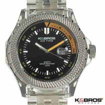 Reloj Original K & Bros / Moda Ice Time / Fecha / Oferta Rgl