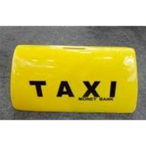 Alcancía Copete De Taxi Amarillo De 26.4*11*12.5cm