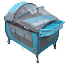 Cuna Corral De Viaje Jbp703 Azul Infanti