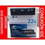 Quemador De Dvd Multiformato Lg Gh22 22x Ide Negro Dvd+rw