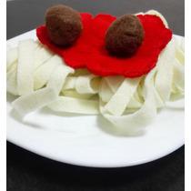 Set De Spaguetti De Fieltro Para Cocinitas De Niñ@s