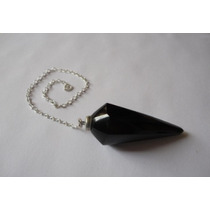 Pendulo De Cuarzo Negro (obsidiana) Importado De Brasil.