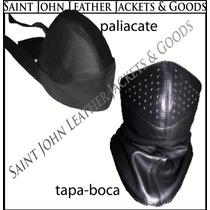 Tapaboca / Cubreboca / Paliacate De Piel; Ideal Para Motos!