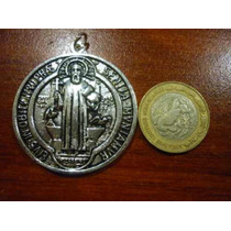 Hermosa Medalla De San Benito Abad