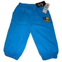 Hermoso Pantalon Pants Nina Bebe Azul 6/9 Meses Usa Nuevo Ve