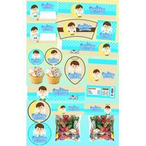 Kit Imprimible Angelito Niño Personalizado Mas 30 Etiquetas