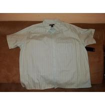 Fresca Y Ligerita Camisa 3xl Big Marca Bruno Azul Aqua