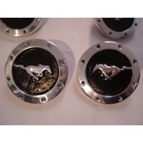 Centros De Rin Metalico Caballo Mustang 4 Piezas