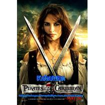 Lona Original De Cine Piratas Caribe Posters Jack Penelope