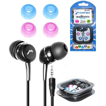 Audifonos Estereo 3.5 Mm Con 4 Gomas Silicon Mp3 Mp4 Estuche