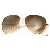 Ray Ban Rb 3025 001/51 Gold Metal Cristales Cafe Diseminado