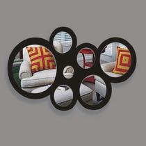 Espejos Circulares Con Marco De Acrílico. Detalle Original