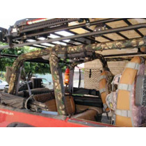 Jeep Forro Roll Bar (cover) Y Cubre Asientos Tipo Militar