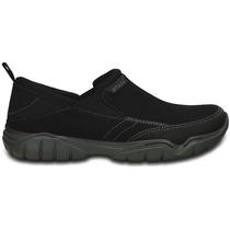 Zapato Crocs Caballero Swiftwater Mesh Moc Negro