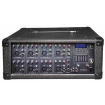 Mezcladora Amplificada 8ch Usb Display 1800w Kaiser Ecualiza