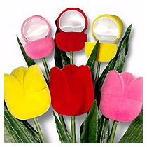 Estuche Joyeria Tulipan, Flor,regalo, Caja, Arete Anillo Mde