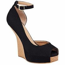 Zapatos Plataforma D´cristian 1002 Negro Tacon 13 Pv