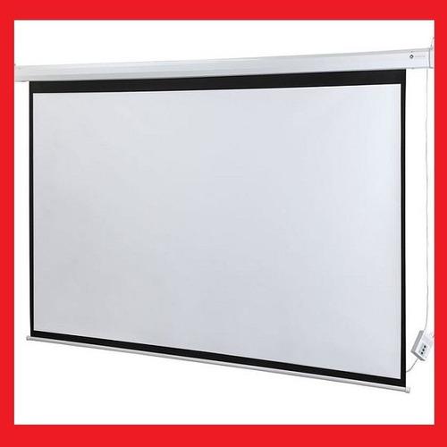 Pantalla electrica para proyector 100pl 4 3 cine en casa for Pantalla proyector electrica