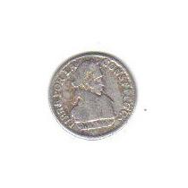 1/2 Sol 1830 Plata Antigua Moneda Independencia Bolivia Hm4