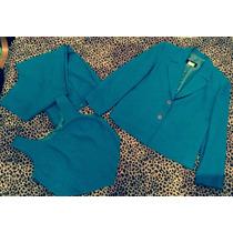 Traje Conjunto En 3 Piezas Color Azul Talla L