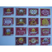 15/15 Etiquetas Cerveza Victoria 150 Años De Coleccion