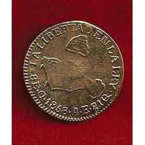 Moneda 8 Escudos De La Republica Manita 1858 Oaxaca Mexico