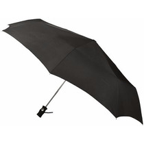 Paraguas Plegable Totes Negro Cobertura 109 Cm Excelente