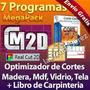 Kit Optimizadores De Cortes Para Laminas: Madera Mdf Vidrio